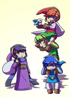 kjunginger:  Everyone's wondering where purple Link went… RaVIO is just busy over at Lorule.
