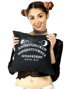 OMG!!!!! Check out what I found on Shop Jeen.com!!! What do you think?!?! OUIJA PILLOW