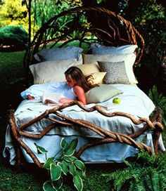 There is something about a bed in nature I have always been obsessed with.