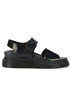 Dr. Martens Women's Shore Romi Petrol Leather Y Strap Sandals - Black - UK 5 https://modasto.com/dr-martens/kadin-ayakkabi/br30124ct13 #modasto #giyim