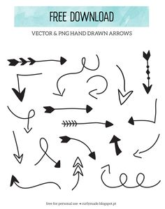 Curly Made: Free Download // Hand Drawn Arrows