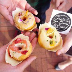At @yelpperth #yelpbalcony Botanical Party  with amazing @glazedandconfusedonuts // lemon elderflower strawberry