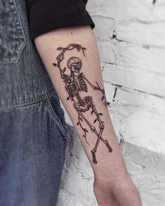 #Tattoos,skeleton tattoo Creepy Tattoos, Dope Tattoos, Dream Tattoos, Body Art Tattoos, Sleeve Tattoos, Tattoos For Guys, Tattoos For Women, Cool Guy Tattoos, Tattoos On Hand