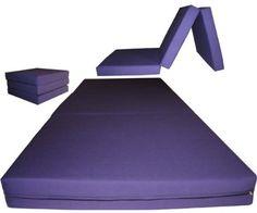 Púrpura a estrenar shikibuton trípticos espuma Camas 3 & quot;  X Grueso 27 & quot;  De ancho x 75 & quot;  Long, 1,8 libras de alta densidad de la espuma blanca resistente, Floor Mats espuma plegables.