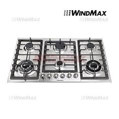 "WindMax?? Euro Style 34"" Stainless Steel 6 Burner Built-In Stoves NG Gas Cooktops Cooker *** For more information, visit image link."