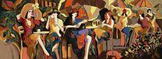 painting paris cafe - Google Search