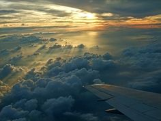 flight, sunset, above the clouds, sky, selva marine