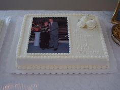 Any anniversary from the to the an beyond, should be very special. Celebrate this special occassion with a special cake. From tiered to sheet, which ever one you choose, it will make your celebration that much more special. Fruit Birthday Cake, 60th Birthday Cakes, Cake Frosting Designs, First Holy Communion Cake, Wedding Aniversary, 50th Cake, Sheet Cakes, Anniversary Ideas, Cake Tutorial