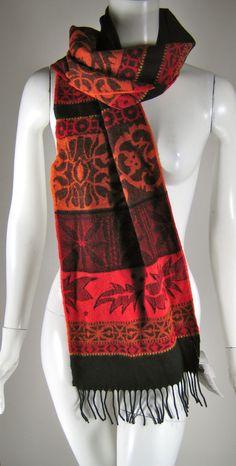 PARSLEY & SAGE Red & Black Print Scarf Wrap Shawl NWT #parselysage #Scarf