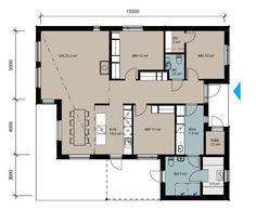 Mallistot : Talopaketit - Valmistalot Future House, House Plans, Floor Plans, Layout, Architecture, Flow, Home Decor, Ideas, Arquitetura