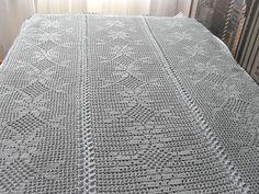 Romantische deken/sprei met van BlageCrochetDesign op Etsy