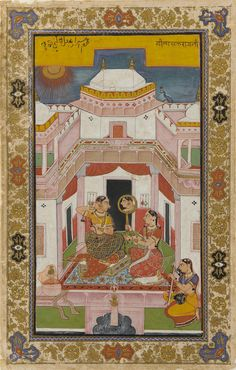 Vilaval Ragini from a ragamala (garland of musical modes) set