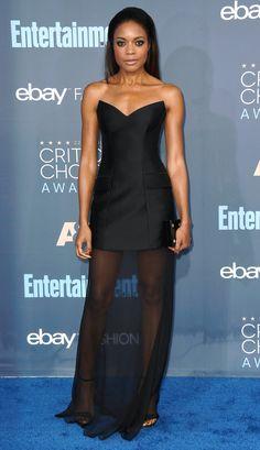 Naomie Harris in Stella McCartney, 2016 Critics Choice Awards