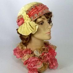 Vintage Reproduction Velvet Cloche Hat by NouveauHatsbySharon