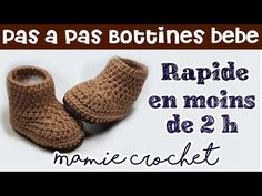 Baby Crochet Patterns Step by step baby booties 0 3 and 3 6 months easy and fast crochet Crochet Baby Boots, Booties Crochet, Baby Booties, Crochet Clothes, Crochet Dresses, Fast Crochet, Crochet Bebe, Love Crochet, Crochet Headband Tutorial