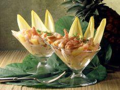 Ananas-Krabben-Cocktail ist ein Rezept mit frischen Zutaten aus der Kategorie Salat. Probieren Sie dieses und weitere Rezepte von EAT SMARTER!
