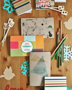 Your headquarters for unique and affordable gifts! #agendas #2016 #pencils #notebooks #drinkstirrers #partygoods #paperlove #snowflakes #giftideas #gifts #handmade #shopsmall #decorations #planners