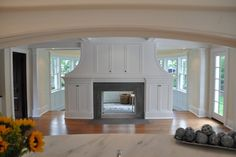 see through fireplace | See-through, Gas-log Fireplace - traditional - living room - newark ...