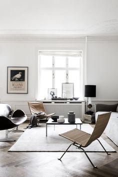 Minimalistisches Wohnzimmer.