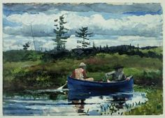 Winslow Homer... this reminds me of my Montana a bit. And it looks SUSPICIOUSLY  like the magnet on the fridge. (it is)