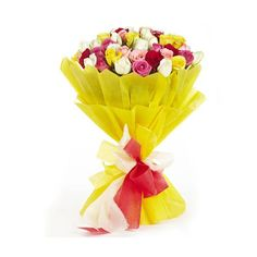 Check out our New Product  Mothers Day-Love Storey Flowers Mix colour roses in a 2 layer paper packing  Rs.2,047