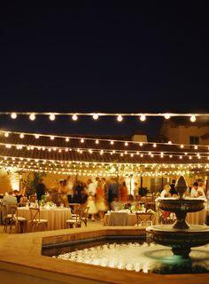Wedding festoon fairy lights | patmoyerweddings.com