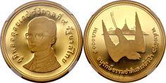 Thailand/Kingdom AV 5000 Baht BE2517/1974 Birmingham Mint White Eyed River Martin/King Rama IX