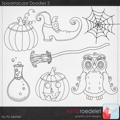 Spooktacular Doodles 2 - KimB