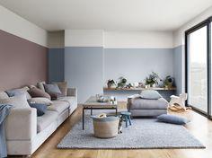 Heart Wood Kleur van het Jaar 2018 wooninspiratie woonkamer icm lichtblauw