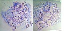 DeviantArt: More Like Night King by XeviousTheGreat Raijin Tattoo, God Of Lightning, Japanese Mythology, Tattoo Project, Deck Of Cards, Card Deck, Night King, Art For Art Sake, Deities