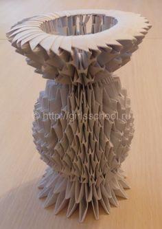 фигурная ваза из модулей
