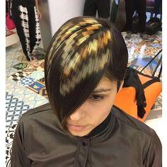 Pixel hair  rg @xpresioncreativos. Hashtag #modernsalon to be featured! by modernsalon