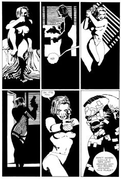 From sin city Frank Miller Sin City, Frank Miller Art, Dark Comics, Bd Comics, Comic Book Characters, Comic Books Art, Sin City Comic, Jordi Bernet, Graphic Novel Art