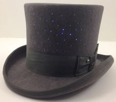 Holy crap, I need to make this! Fiber optic light-up top hat!