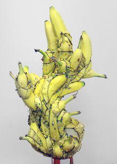 Who wouldn't want a banana sculpture in their home? Artist: Matt James Stone