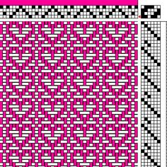 I'm sure there are many more ways to weave hearts, but perhaps these will get you started. Click on the cards to find the drafts underneath. Below you will find corresponding downloadable Valentine's Day WIFs for weavers.