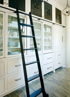 modern butlers pantry (aka I want a sliding ladder and really don't care where it goes)