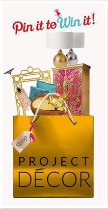 #PinToWin!  Click to enter! #Contest #ProjectDecor
