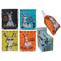 Turnbeutel Llama mit Sprüchen. Ohlala Llama, Wonder Llama, No Drama Llama, No Probllama Farbe & Design nicht wählbar. Lieferung erfolgt je nach Verfügbarkeit. Liefermenge: 1 St.