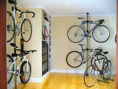 The image above is a beautiful example of our vertical Ultra Space Saver which can help double your capacity.http://velodomeshelters.com
