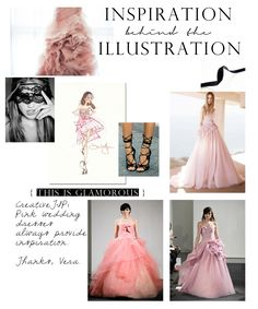 { pink dress illo for this is glamorous }