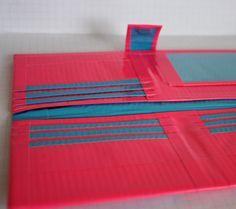 Duct Tape Women's Wallet-  Hot Pink & Light Blue. $25.00, via Etsy.