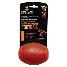 Starmark Treat Dispensing Football, Medium, Brown: Amazon.ca: Pet Supplies