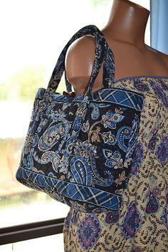 Vera Bradley Handbag Purse Tote Blue | eBay