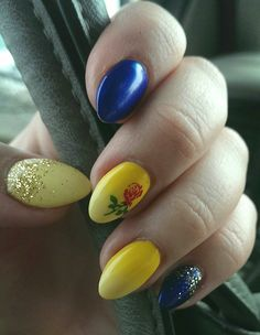 Beauty and the Beast subtle nails