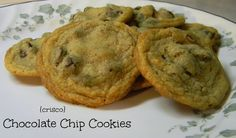 Sugar for Breakfast: Chocolate Chip Cookies {Crisco}