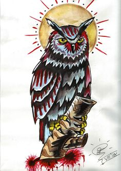 It's done with ink and watercolour in odlschool style. It's a tattoo design for a girl's hip.