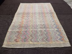 This is Turkish Handmade Vintage Kilim Rug  Made By Anatolian Nomadic  İt is On Good Condition We Wa