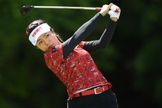Pei-Ying Tsai Photos Photos - Pei-Ying Tsai of Taiwan hits her tee shot on the 18th hole during the first round of the Resorttrust Ladies at the Oakmont Golf Club on May 26, 2017 in Yamazoe, Japan. - Resorttrust Ladies - Day 1