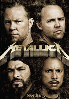 Metallica! James, Lars, Kirk, and Robert.